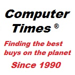 "Image of Computer Times logo ""Finding the best buys on the planet since 1990"""