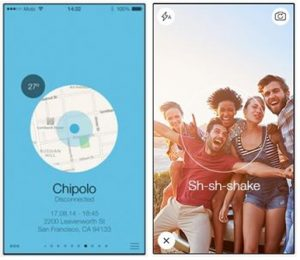 Image of Chipolo app screens 2
