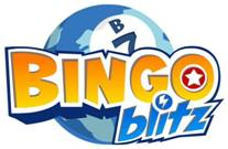 Image of logo for Bingo Blitz, from Buffalo Studios, a Facebook game