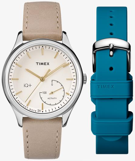 Image of Women's Tan Timex IQ+ move Tracker Watch