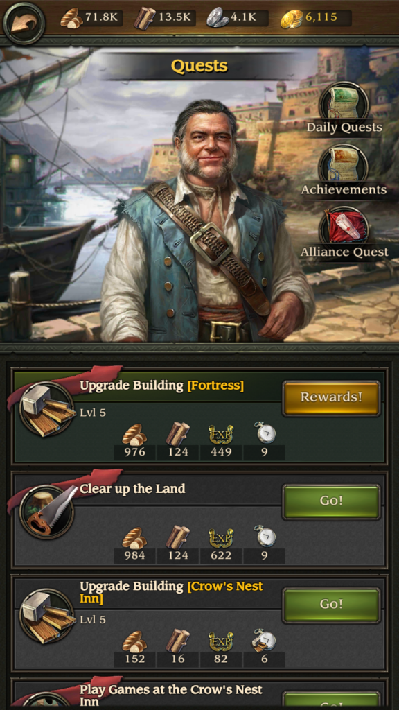 Image of Mr. Gibbs Quests in Pirates TOW