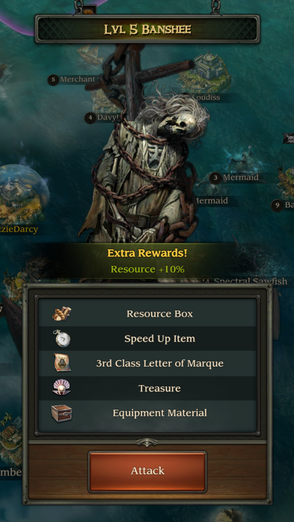 Image of Banshee Attack Request in Pirates TOW