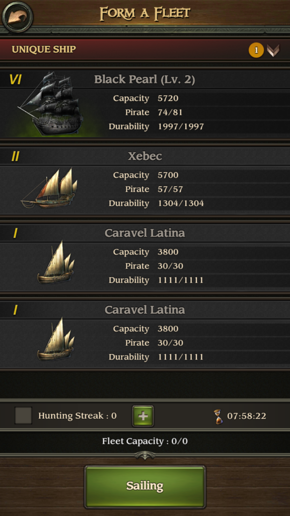 Image of Fleet Battle Choices in Pirates TOW