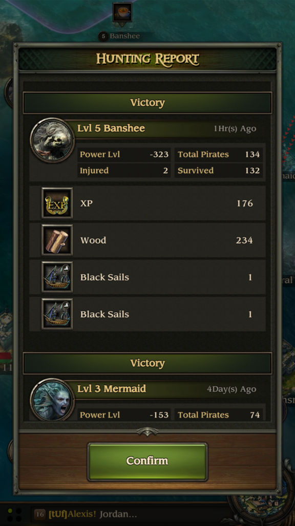 Image of Sea Battle Rewards Win in Pirates TOW