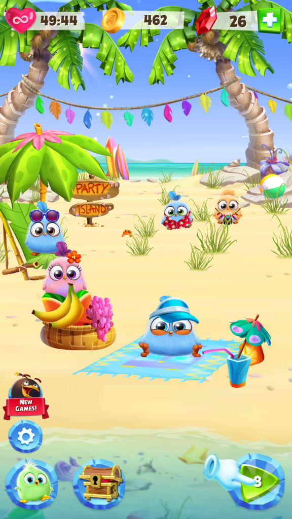 Image of Angry Birds Match Beach Scene