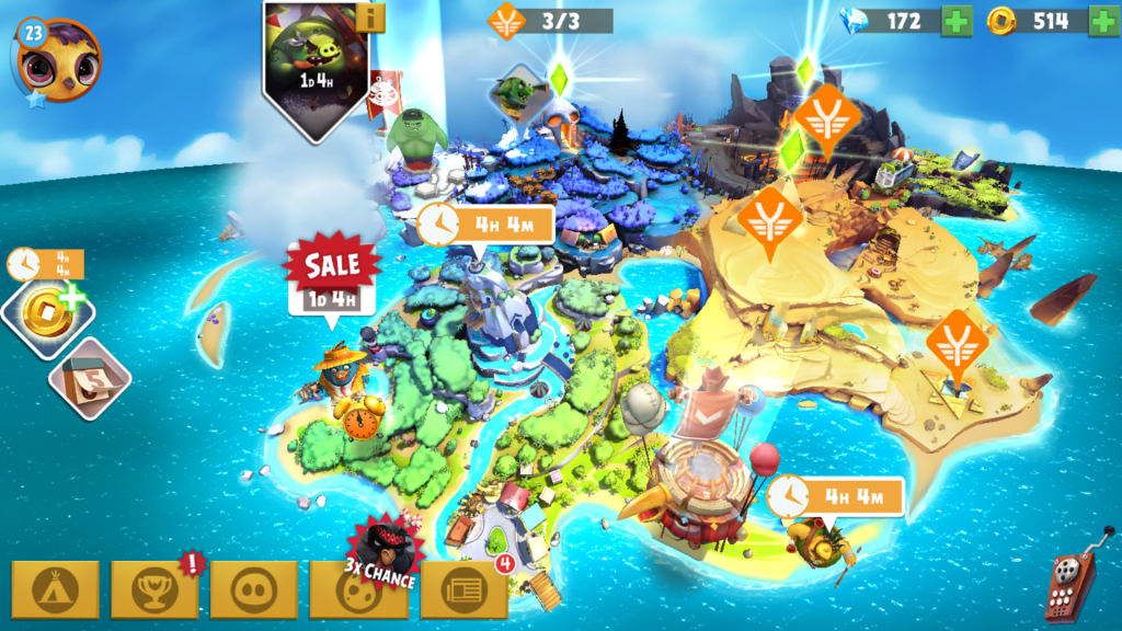 Image of Angry Birds Evolution Bird Island Map