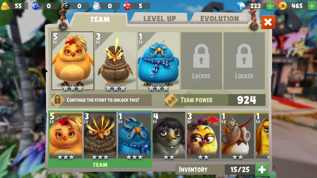 Image of Angry Birds Evolution Team Inventory