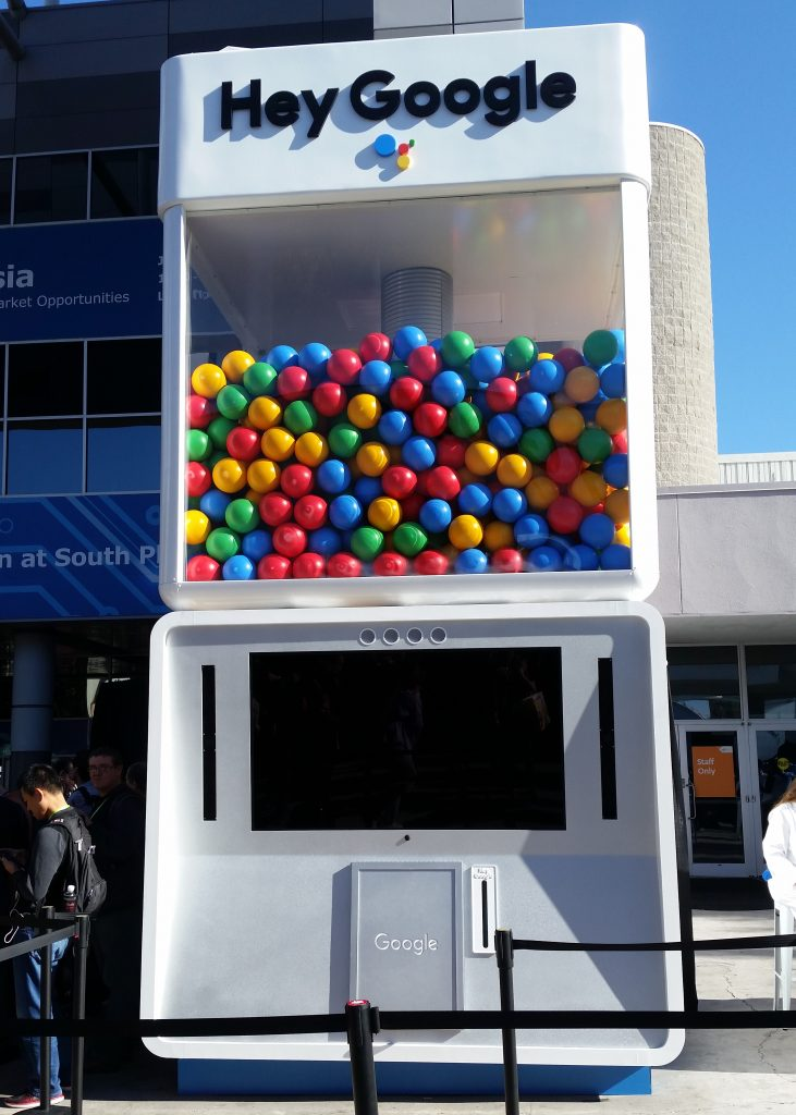 Image of Google Gumball Machine Game at Las Vegas Convention Center