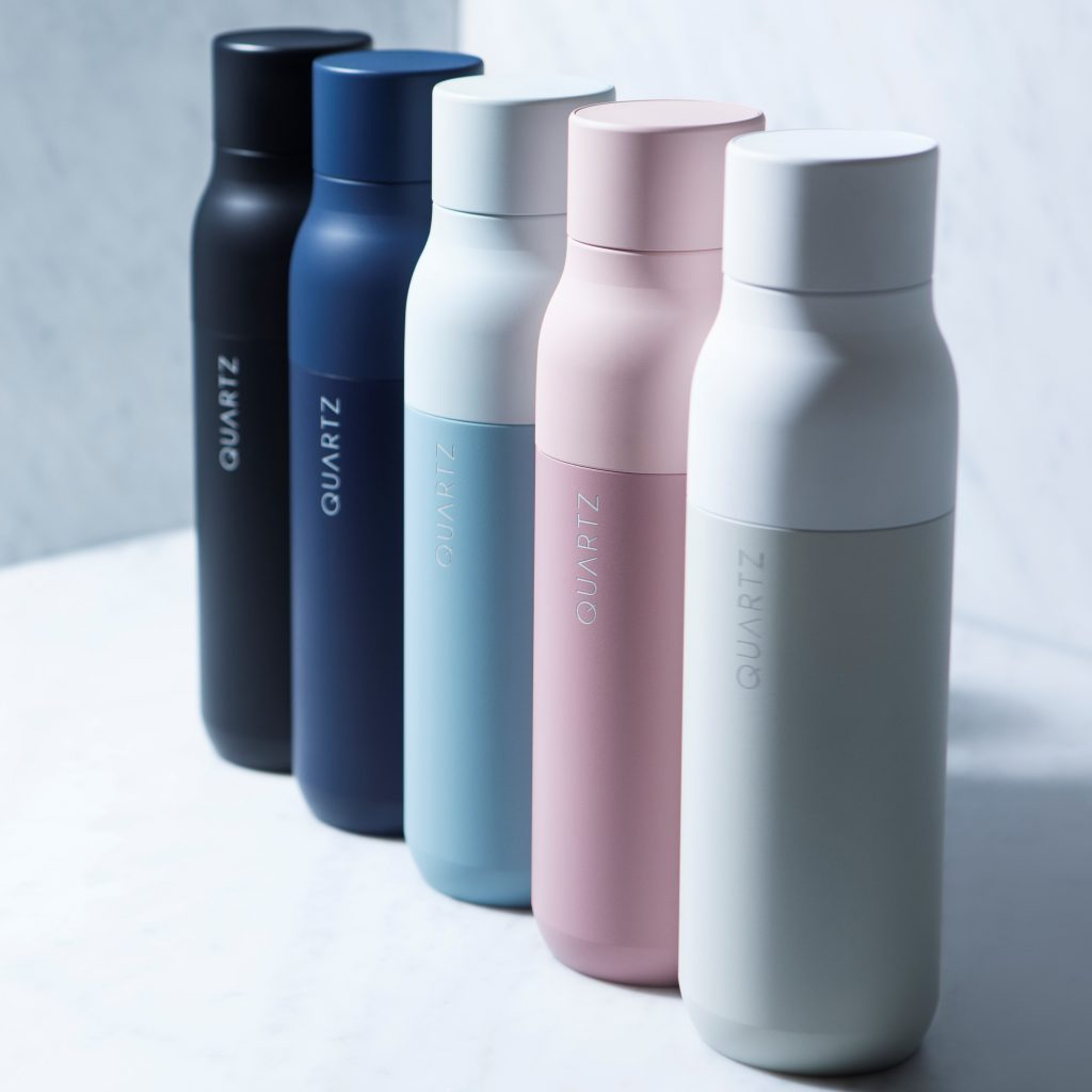 Image of Multi-Colored Quartz Self-Cleaning Water Bottles