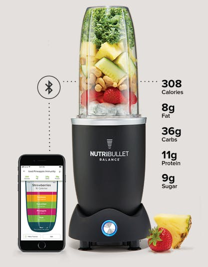 Image of NutriBullet Balance Blender Unit and Phone App