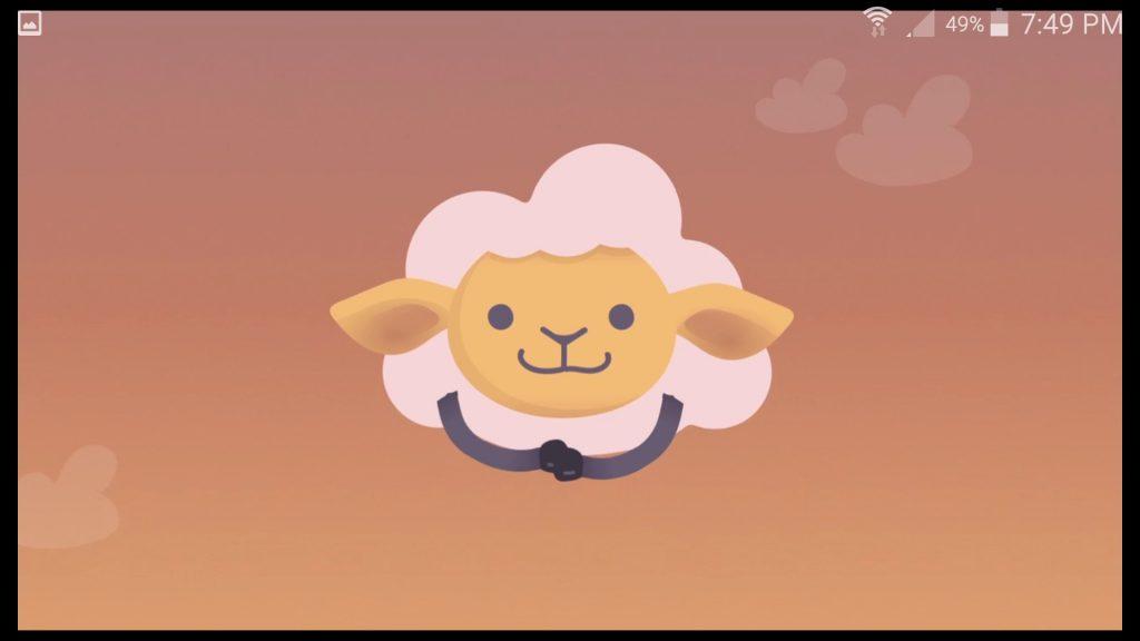 Shleep App Mascot Sheep Awake Screen