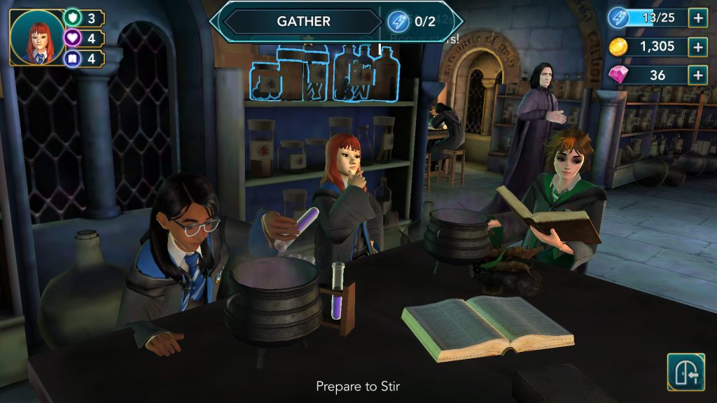 Harry Potter: Hogwarts Mystery Potions Lesson Screen