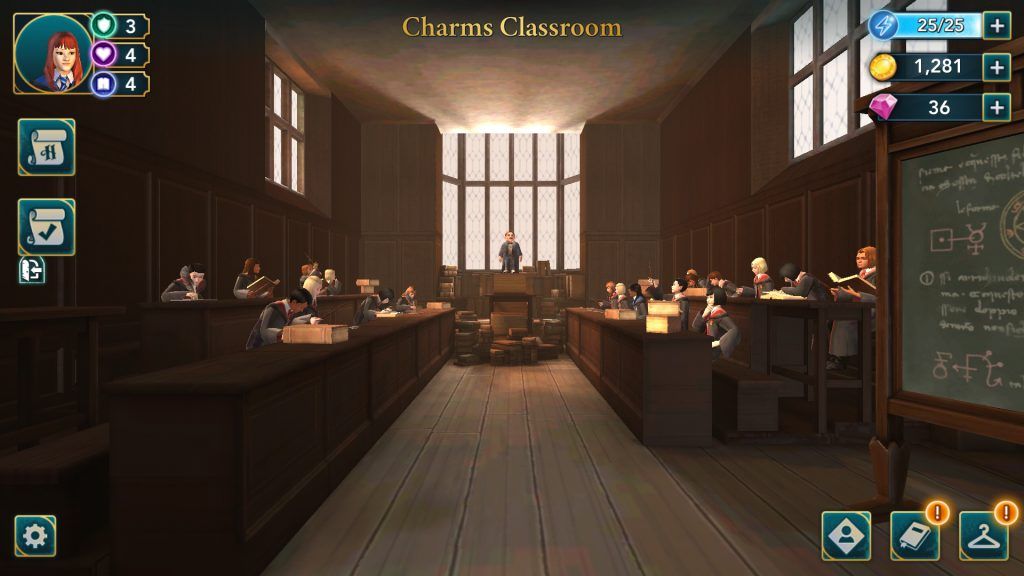 Harry Potter: Hogwarts Mystery Charms Classroom Screen