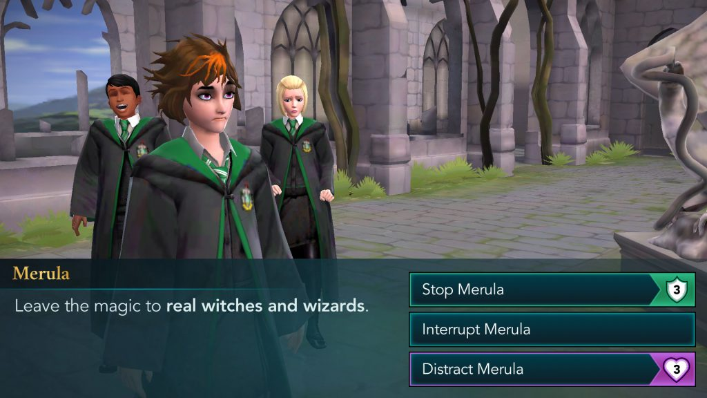 Harry Potter: Hogwarts Mystery Confronting Merula Screen
