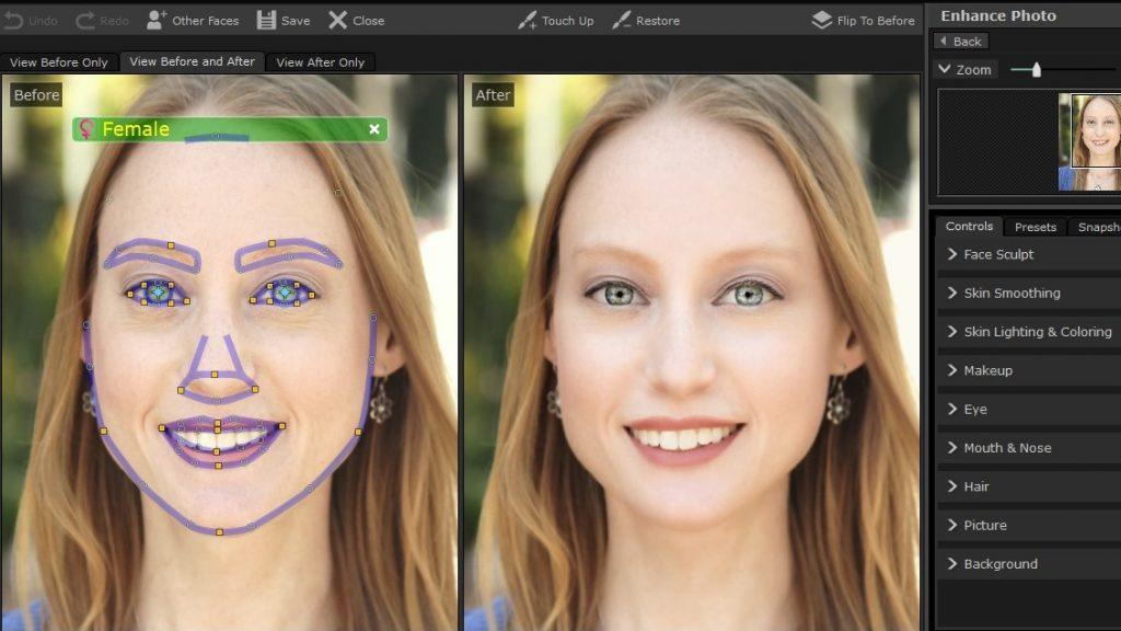 PortraitPro 17 Face Masking