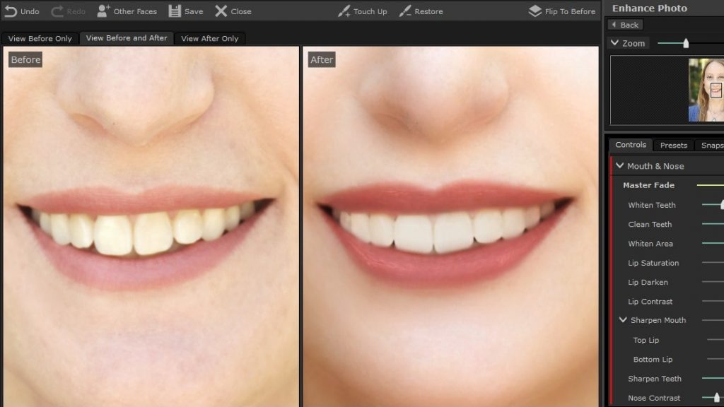 PortraitPro 17 Teeth Whitening