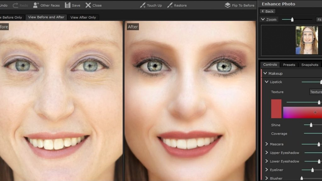 PortraitPro 17 Makeup Tool