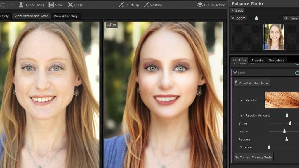 PortraitPro 17 Hair Color Tool