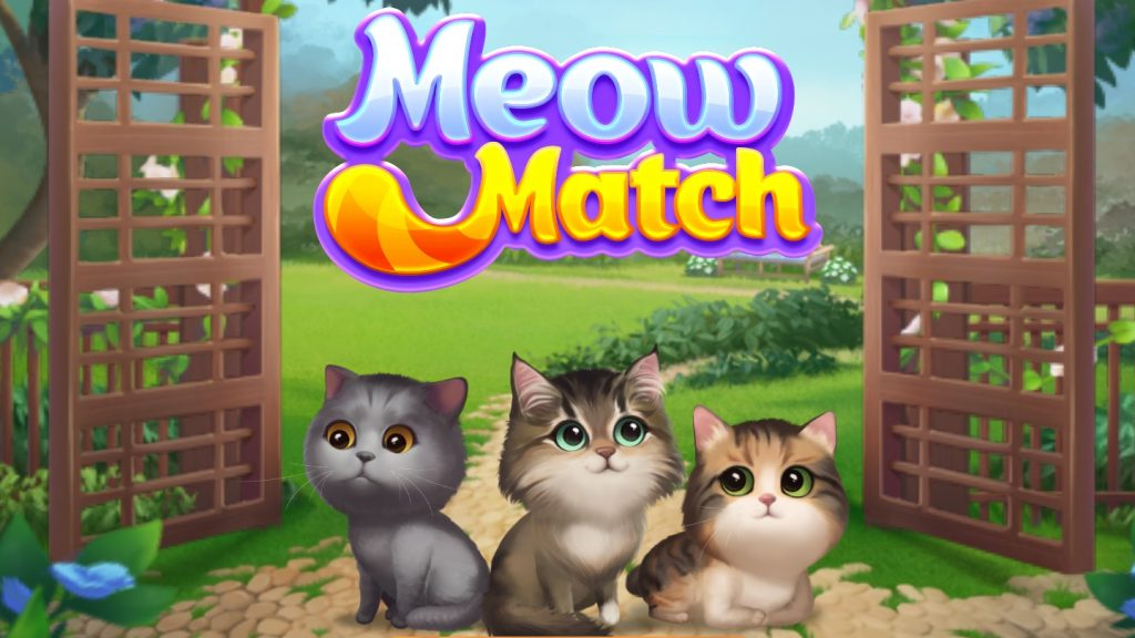 Meow Match Title Screen