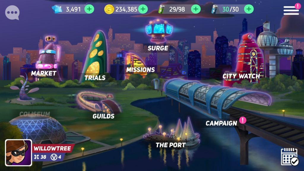 Disney Heroes: Battle Mode Main City Map