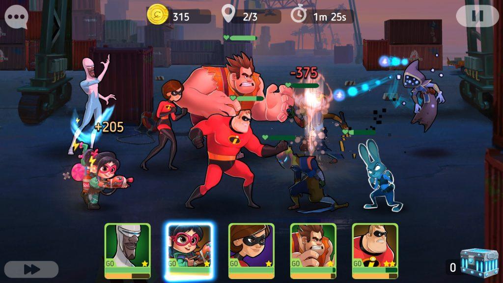 Disney Heroes: Battle Mode Battle in Progress