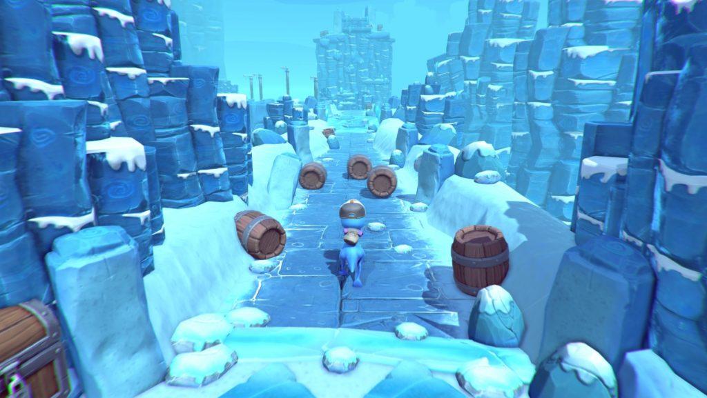 Tiny Hands Adventure Frozen Barrel Run