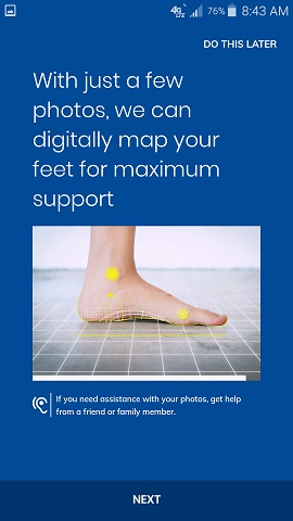 Dr. Scholl's Custom Contour 3D Printed Insoles App Instructions
