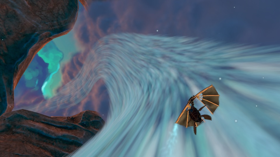 Heaven's Vault Flying the Nebula Cloud Stream