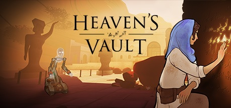 Heaven's Vault Logo Featuring Aliya and Six