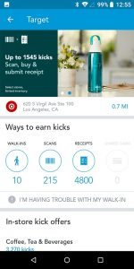 Shopkick App Available Kicks at Target