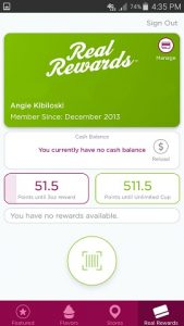 Yogurtland App Rewards Card and Tracker