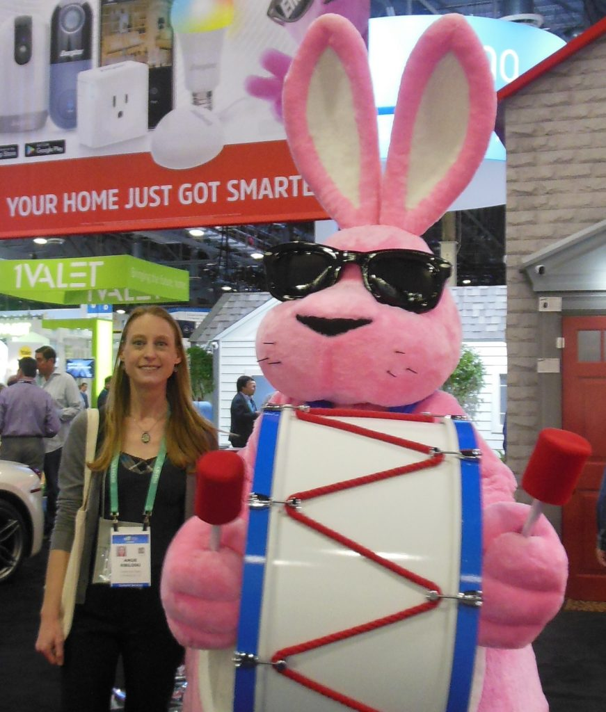 Angie and Energizer Bunny CES 2020