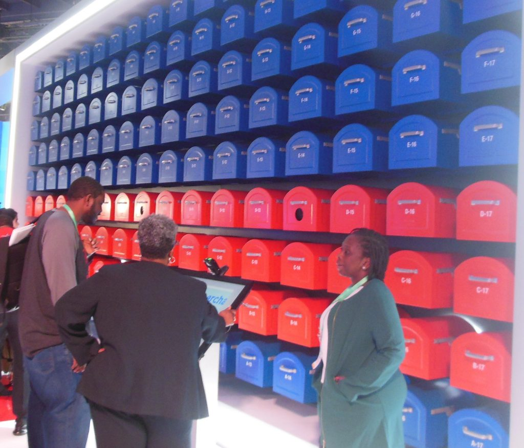 Postal Service Wall of Mail Boxes Game at CES 2020