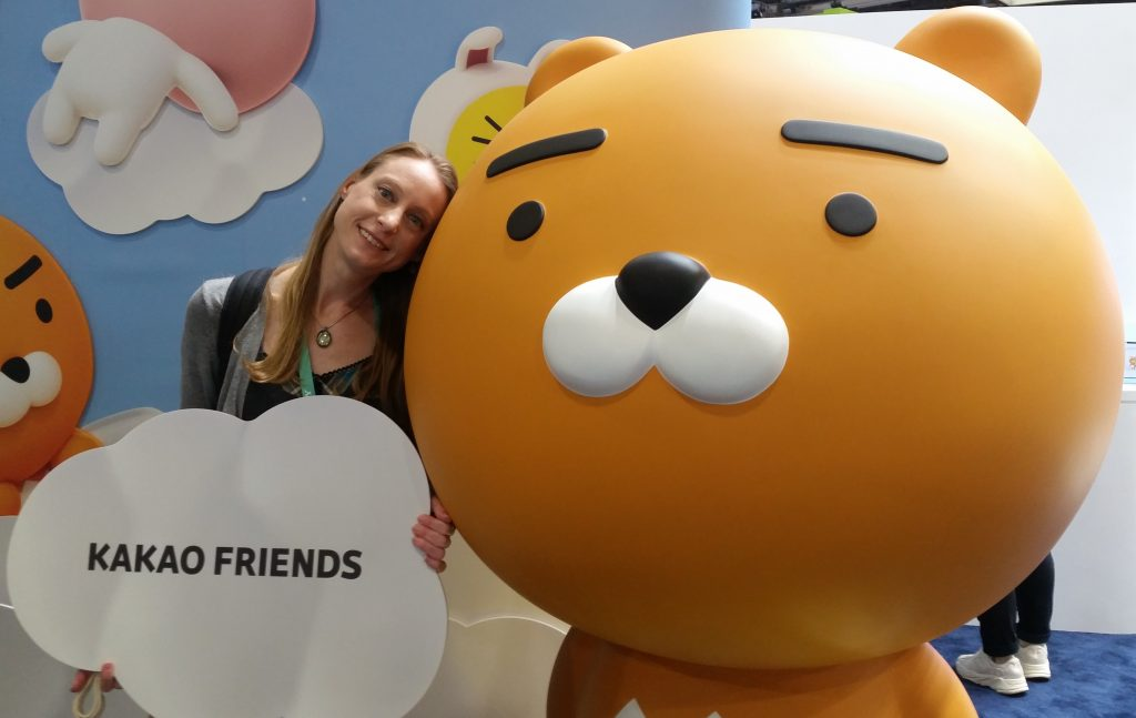 Angie with Brian at Kakao Friends Booth CES 2020