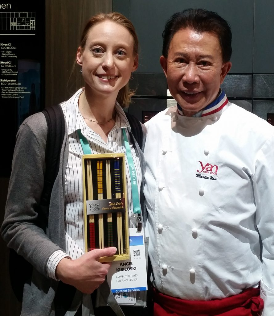 Angie with Martin Yan CES 2020