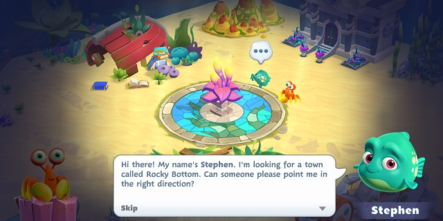 Undersea Solitaire Tripeaks Stephen the Fish Dialogue