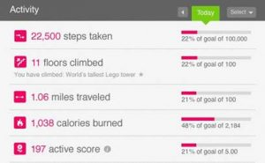 Image of Fitbit Ultra Wireless Activity screen shot