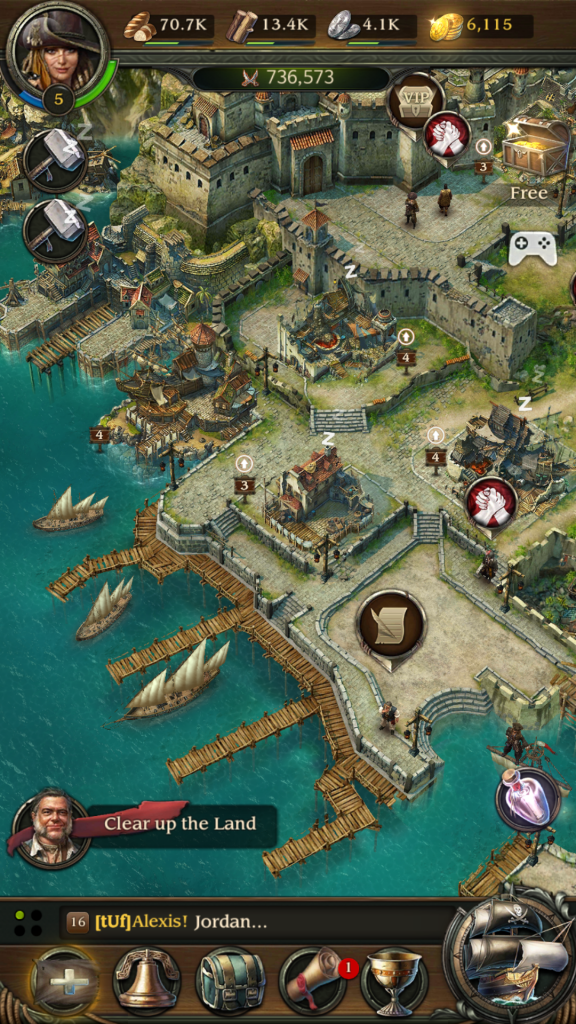 Image of Town and Fleet in Pirates TOW