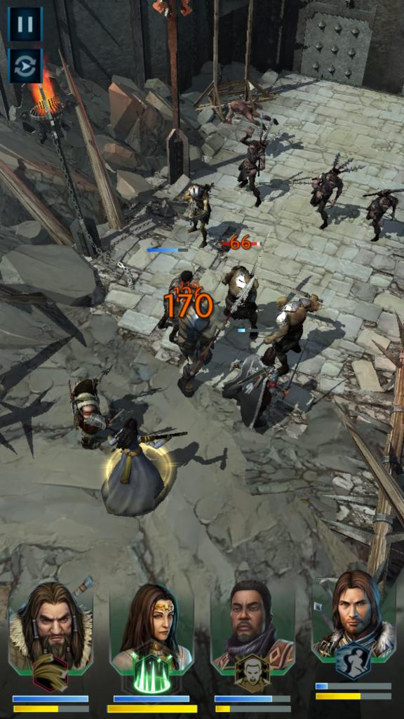 Shadow of War Battle Screen