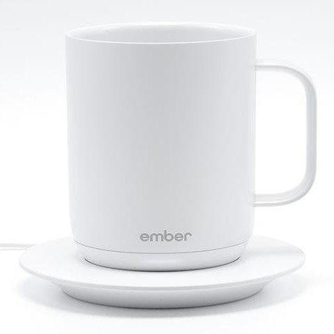 Image of Ember Ceramic Mug and Charging Saucer