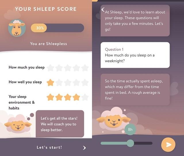Screenshots of Shleep Sleep Aid App