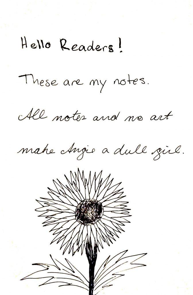Rocketbook Everlast Scan of Notes and Flower Sketch
