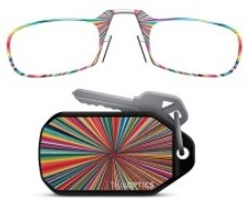 ThinOPTICS Curated Collection Rainbow Burst Keychain Case with Reading Glasses