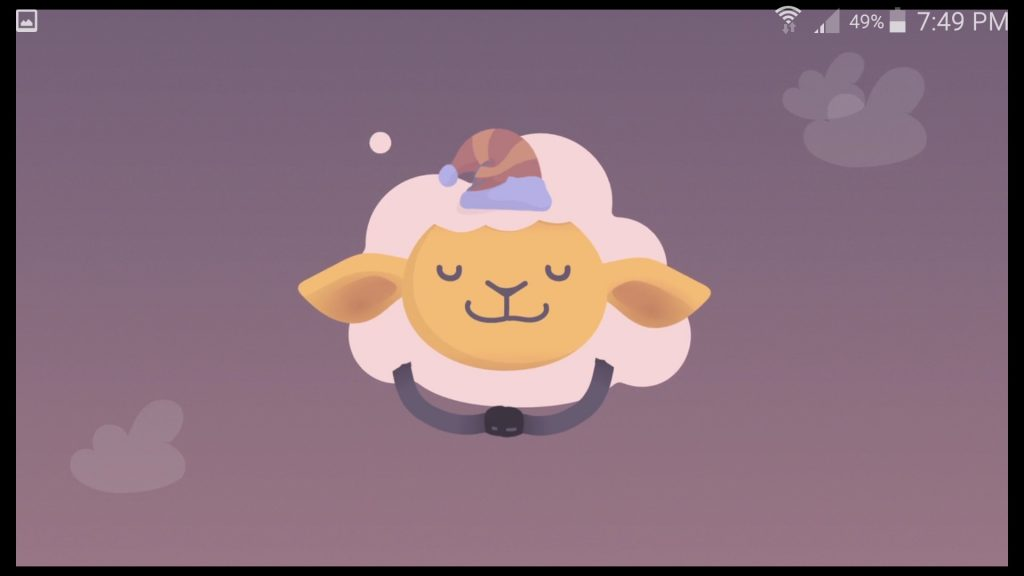 Shleep App Mascot Sheep Asleep Screen