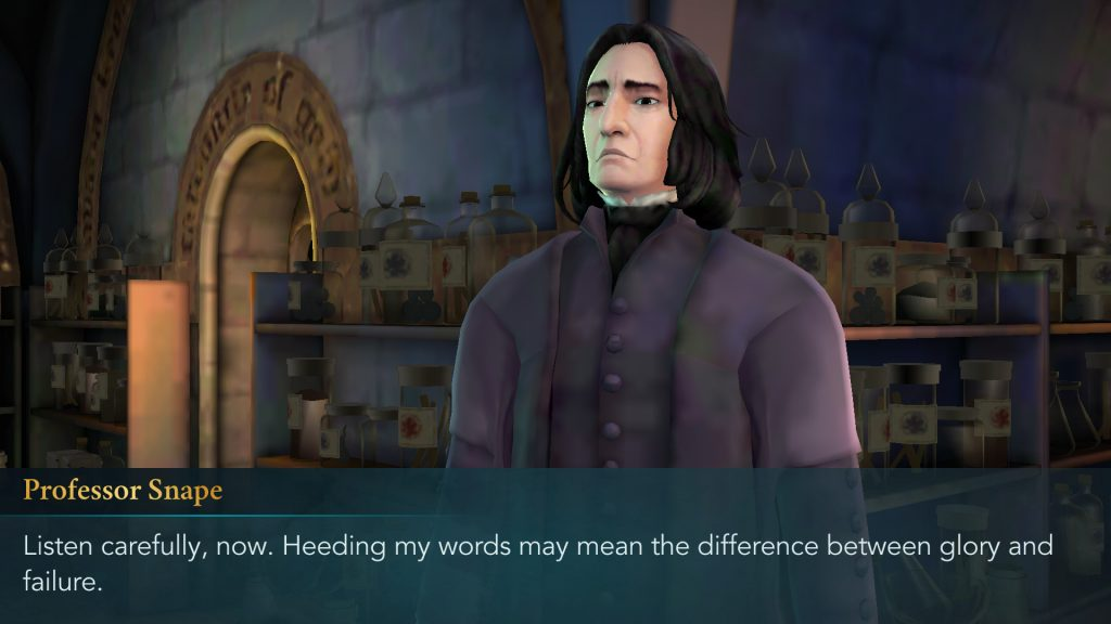 Harry Potter: Hogwarts Mystery Professor Snape Lecture Screen