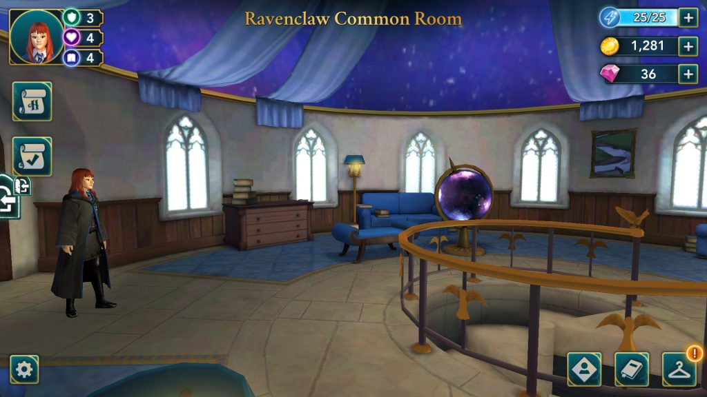 Harry Potter: Hogwarts Mystery Ravenclaw Common Room Screen