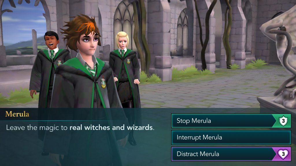 Harry Potter: Hogwarts Mystery Confronting Merula Screen