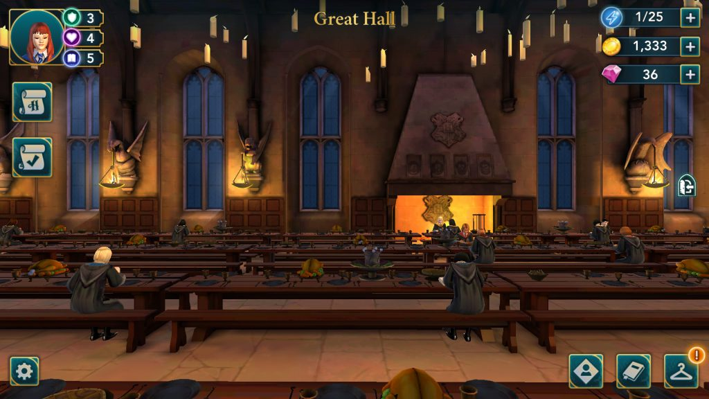 Harry Potter: Hogwarts Mystery Great Hall Screen