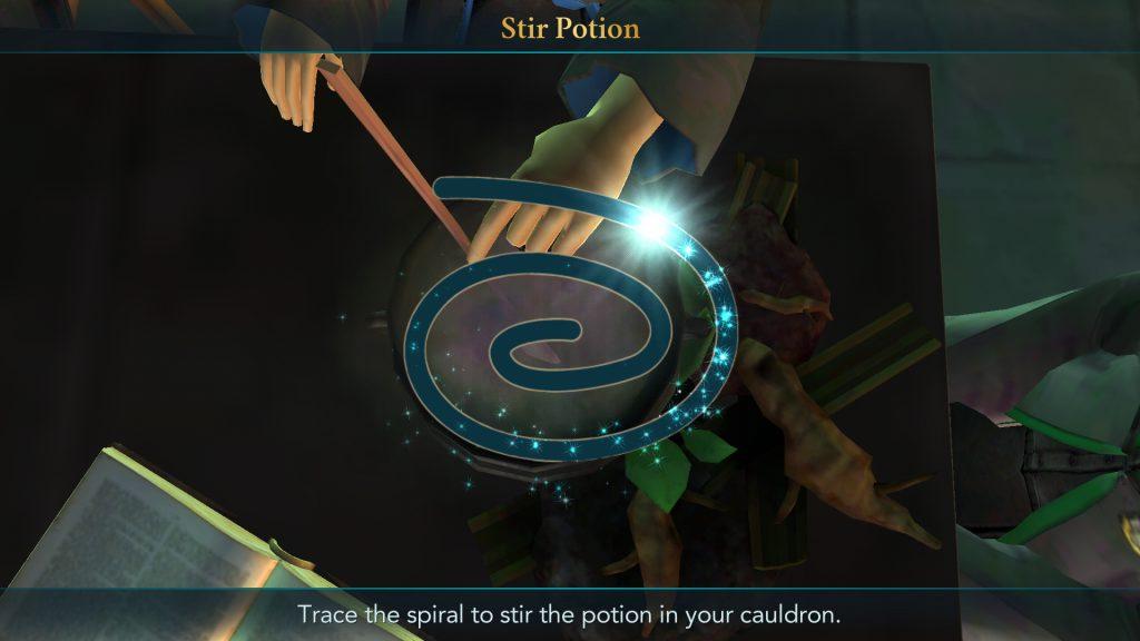 Harry Potter: Hogwarts Mystery Stir Potion Screen