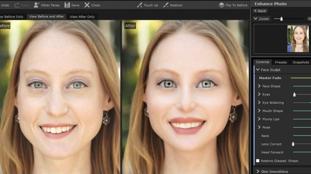 PortraitPro 17 Face Sculpting Tool to the Extreme
